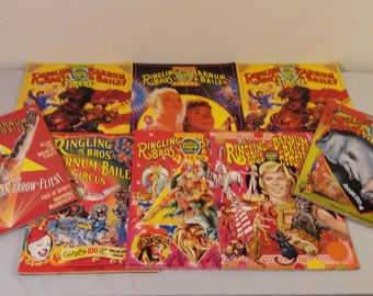 1978-1996 Lot Of Ringling Brothers and Barnum & Bailey Souvenir Programs