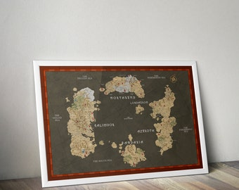 World Map of Warcraft / Azeroth Map /  Northrend Map / Poster / World of Warcraft / Heroes of the Storm