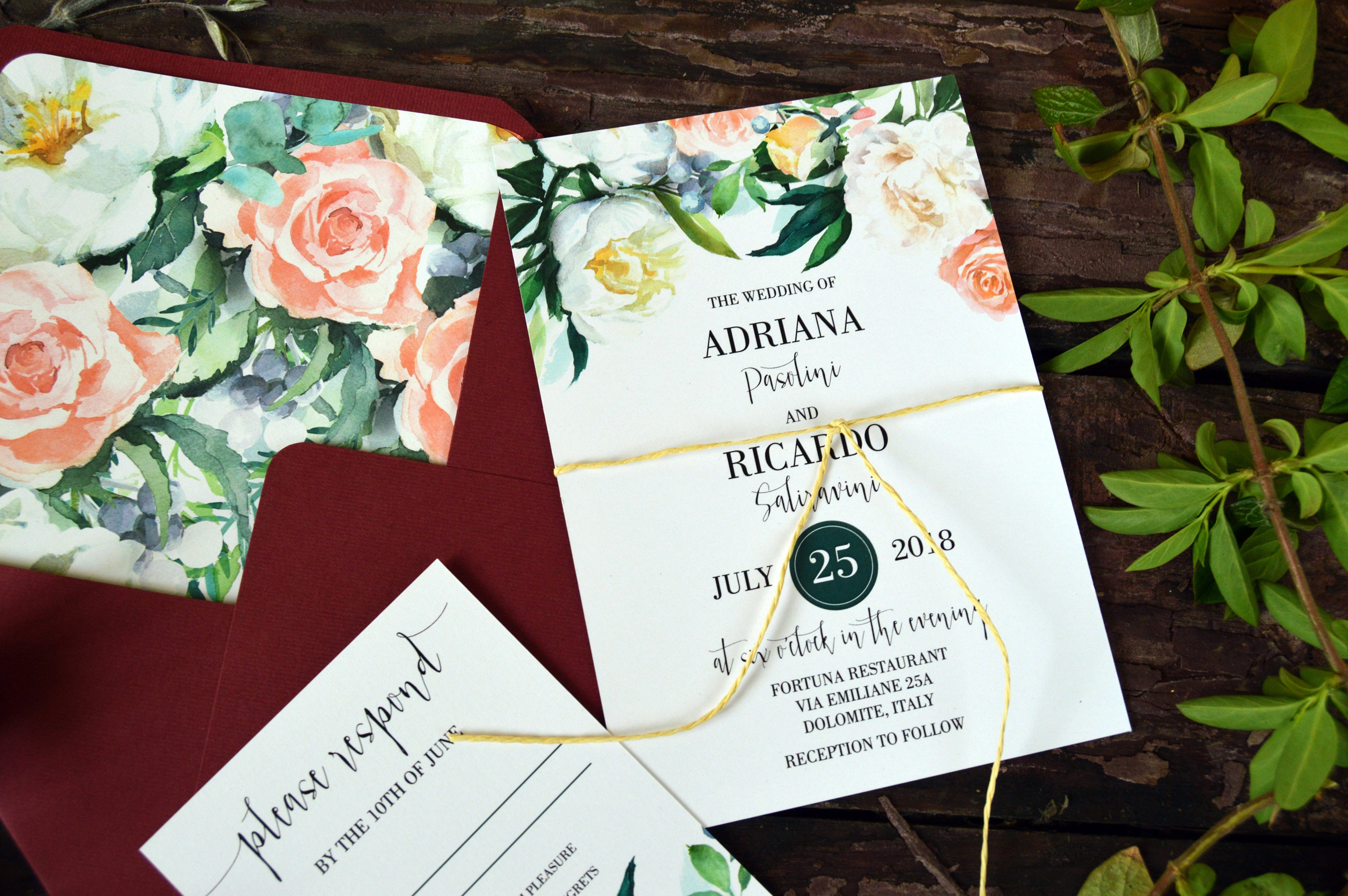 Printable Modern Wedding Invitation Suite, Wedding Invitations ...
