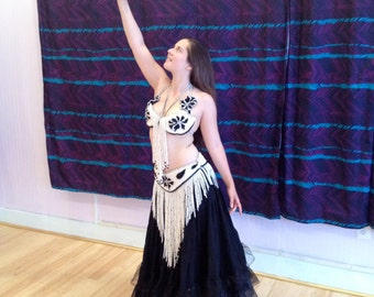 Vintage pearl belly dancing costume
