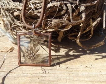 Pressed Feather Necklace