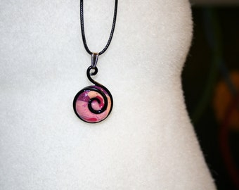Block polymer and aluminum wire spiral pendant