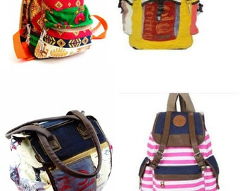 Wholesale Vintage Handmade Cotton Canvas One-of-a-Kind Ethnic Patcwork Hipster Hand Shoulder Bags