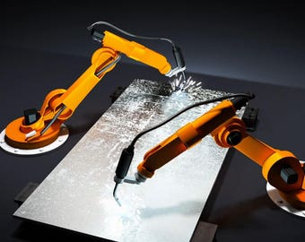 Robots engraved your logo on a sheet of steel, Video Intro or Outro