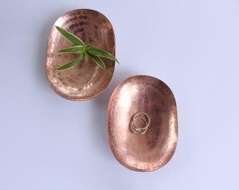 Handmade copper ring dish