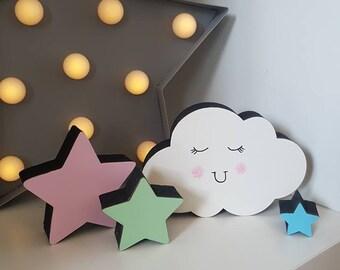 Happy Clouds & Stars