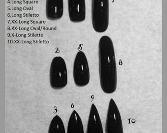 Sample Nails for sizing Custom Press on