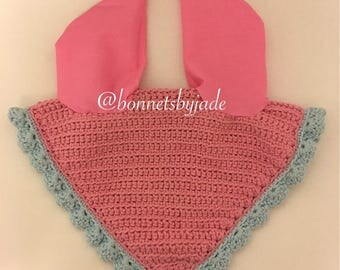 Pink and blue horse fly bonnet-HORSE size