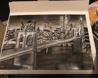 New York Brooklyn bridge inspired print