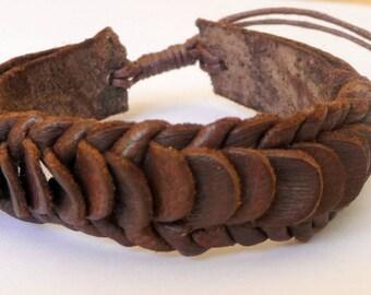 For teen or man leather adjustable bracelet
