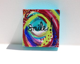 Smile! ** Original Painting ** OOAK
