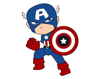 Captain America Svg, Captain America Decal,Dxf,Eps,Png, Superhero, Cricut File, Captain America Logo SVG, Captain America Shirt
