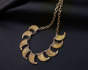 Edgy Tribal Claw Necklace