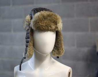 Arctic Trooper Hat // Pilot Hat // Faux Fur Hat with Ear Flaps // Buckle Hat // Russian Winter Hat