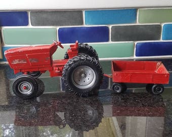 Vintage Ertl Toy Tractor and Trailer Set