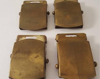 4 - Vintage Brass Belt Buckles