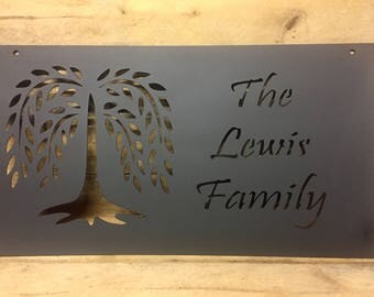 Willow Tree Family Sign
