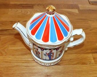 Collectible Vintage Sadler Edwardian Entertainments Bandstand Teapot