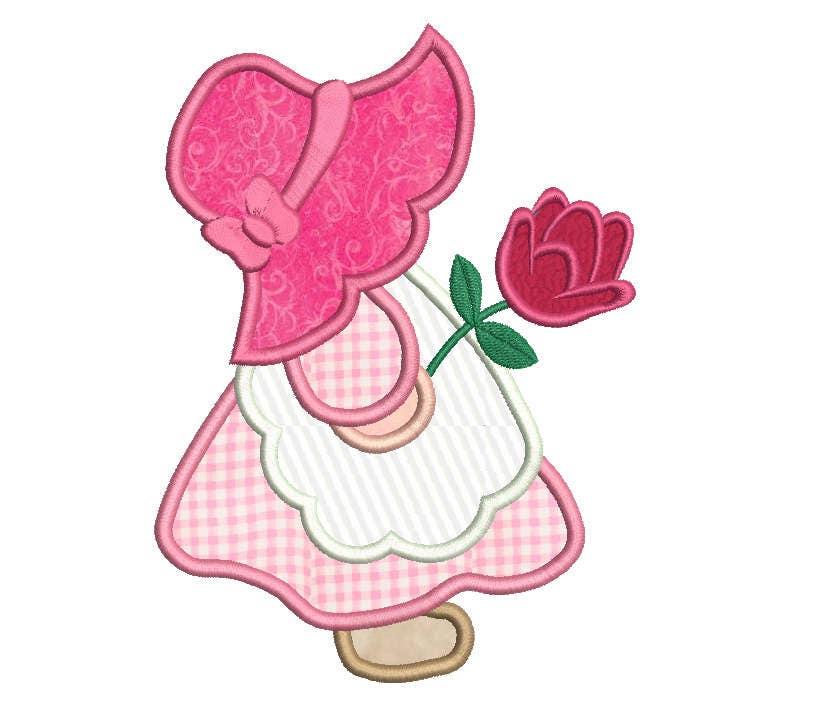 Sun Bonnet Sue Applique Embroidery Design Sunbonnet Sue