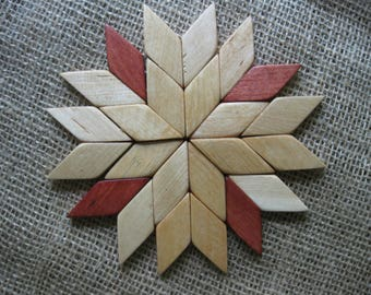 Wood coaster «Eight-pointed star»