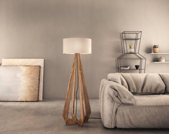 Floor Lamp -Flame, a wooden elegance