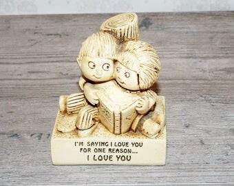 "VINTAGE 1971 Paula Figurin Status. ""I LOVE YOU""."