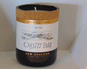 Wine Bottle Candle.  NZ Sparkling Wine Oyster Bay