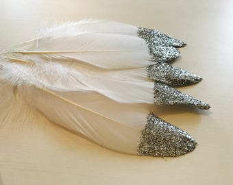 Glitter Feathers. Place settings. Table decoration. Glitter wedding. Glitter feather.Table decor. Mobile craft. Feather mobile