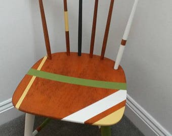 Mid Century Retro Wooden Chair