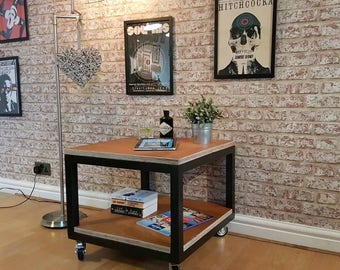 Custom made one of a kind quirky retro cube coffee table/seat