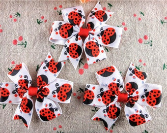 Baby Bows, Ladybug Hair Bows, Hair Bows for Girls, Toddler Hair Bows, Hair Bows, Baby Hair Bows, Small Hair Bows, Girls Hair Bows, Bows