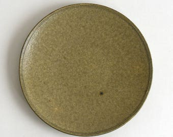 Plate 9.4 in (Ash Glaze), Made to Order in 2 months ; Yamato Kobayashi (16006101-8A)