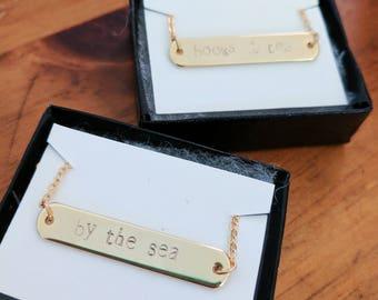 Custom Handstamped Bracelet OR Necklace