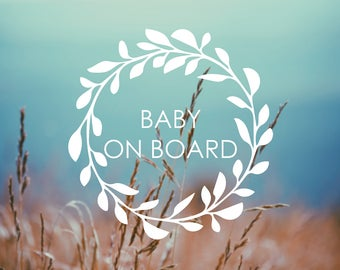Decal - BABY ON BOARD - Vinyl Decal, Car Window Decal, Baby on Board Decal, Safety Sticker, Baby on Board, Car Decal, Baby Shower Gift