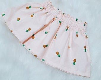 Pineapple Knee Length Skirt