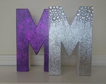 Single Glam Glitter Letters