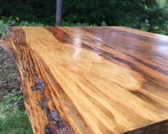 Handmade Rustic Wood Slab Live Edge Coffee Table, With Whole Round Legs.  Made