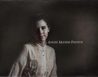 Vintage Inspired Portrait, Fine Art Portrait, Home Decor