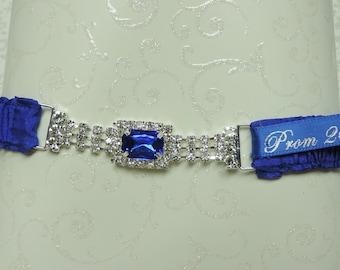 Royal blue jeweled prom garter,  Royal blue prom garter,  Prom garter