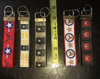 Marine Corps/Air Force/Navy/Army Key Fobs Wristlet  - 5 Inches