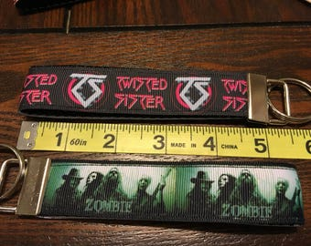 Twisted Sister OR Rob Zombie Fob/Chain Wristlet