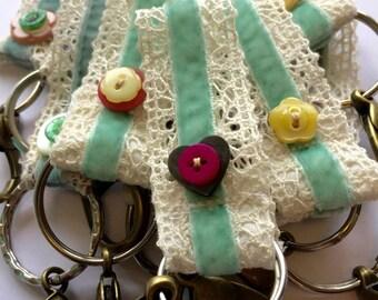 Lace Key Ring