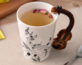 Violin Ceramic Coffee Mug