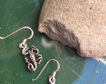 Sterling Silver scorpion earrings