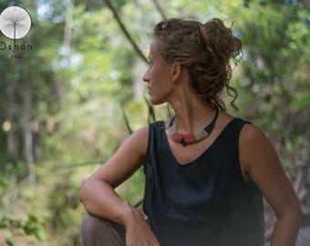 Macrame necklace, Macrame collar, Bib necklace, handmade jewelry