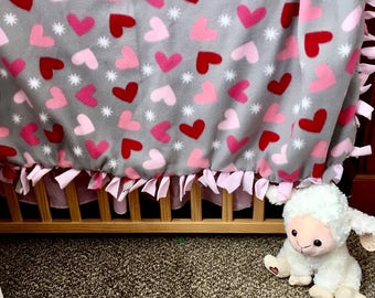 Heart Tie Knot Blanket