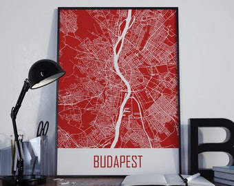 Budapest Map Budapest Travel Map Budapest Street Map Budapest City Map Budapest Map Poster Budapest Map Photo Budapest Map Print Budapest