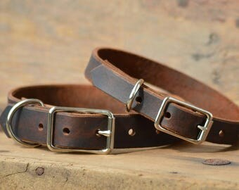 Leather dog collar, Leather Pet collars, Boy dog collars, girl dog collars