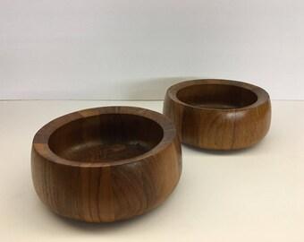 Set of 2 Vintage Dansk Teak salad bowls