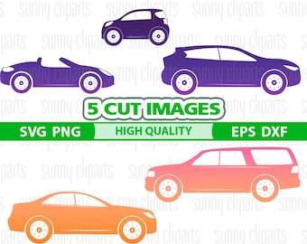 Car Svg, Car Clipart, Cabrio Svg, Car Decal Svg, Transportation Clipart, Dxf Files For Laser, Clipart Svg, Silhouette Cameo, Svg Decals, Png